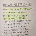 Sos un explorador y esta es tu misión