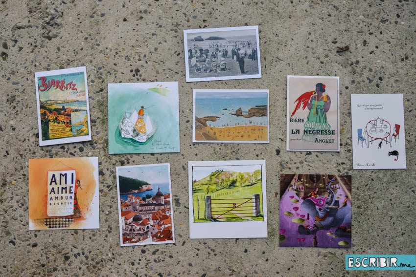 Algunas de mis postales (y las que aparecen al principio de este post son las que me enviaron lectores)