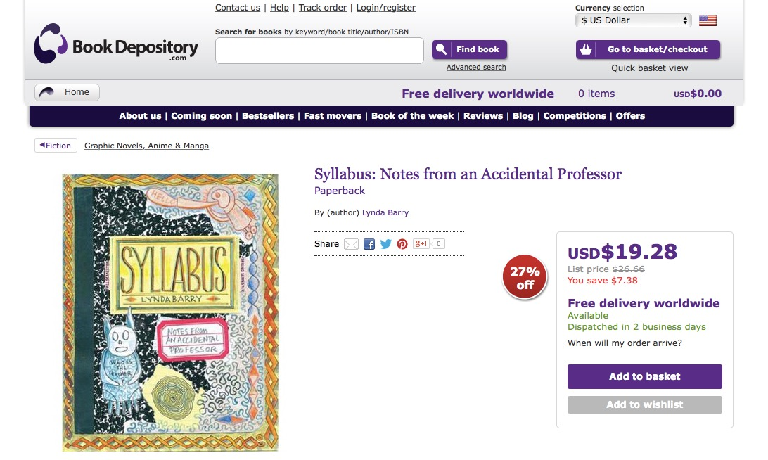 Syllabus: Notes from an Accidental Professor : Lynda Barry : 9781770461611