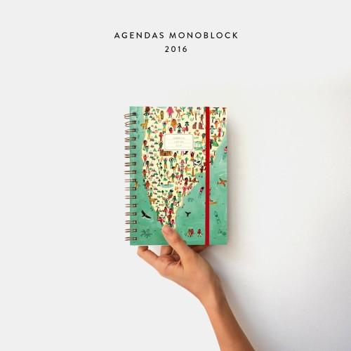 Agenda 2016 con ilustraciones de María Luque