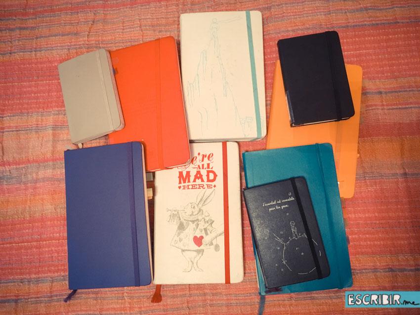 De todos estos cuadernos salieron ideas para el libro.